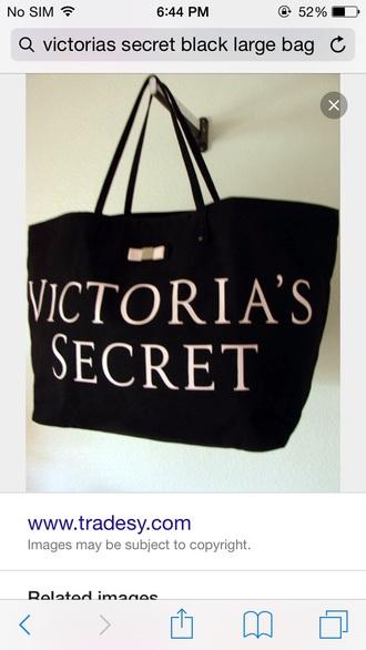 bag victoria's secret tote bag vs bag black tote bag