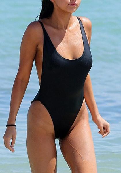 Black Classic Low-Back Swimsuit