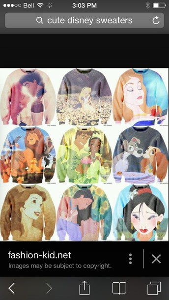 bag sweater disney