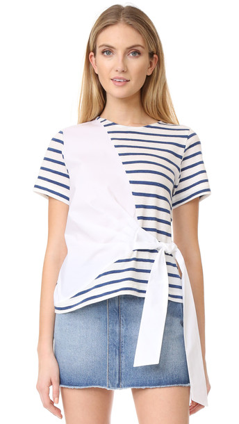 Sea Shirting Combo Tie Tee - White/Blue Stripe