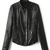 ROMWE | ROMWE Asymmetric Diamond Pattern Zippered Black Jacket, The Latest Street Fashion