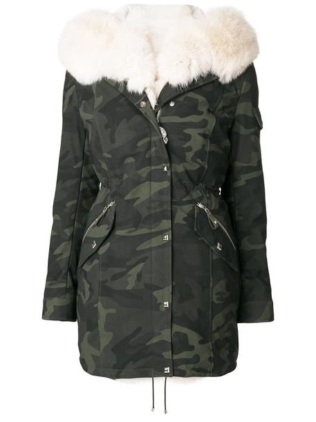 PHILIPP PLEIN parka fur fox women green coat