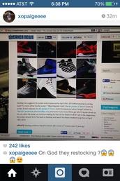 shoes,restocking,shoe game,js,instagram,gamma,jordan gamma blue 11s,air jordan 5