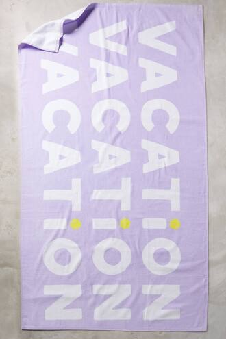 home accessory quote on it beach towel