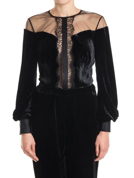 Elisabetta Franchi Celyn B. bodysuit lace bodysuit lace velvet black underwear