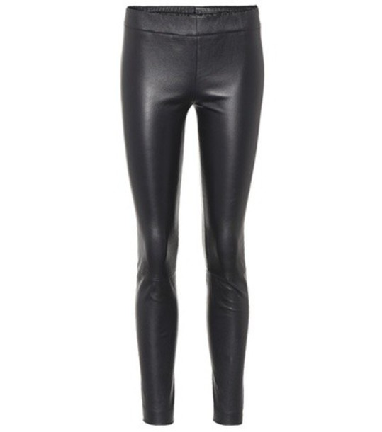 The Row leggings leather leggings leather blue pants