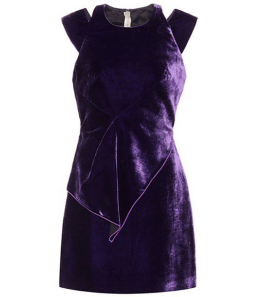 Roland Mouret dress velvet dress velvet purple