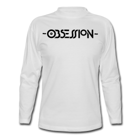 Obsession Logo on a White T-shirt | Obsession Rave Flyer T-shirt Shop