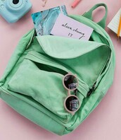 bag,green,back to school,backpack,cute,style,stylish,pretty