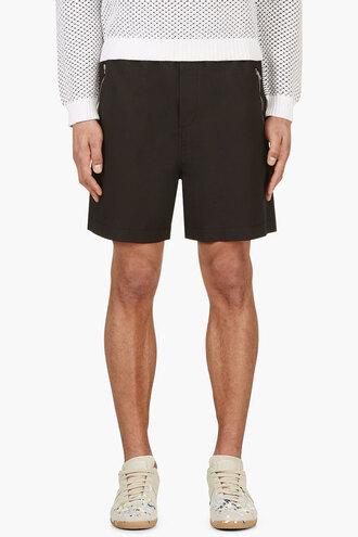shorts waist black stretch menswear