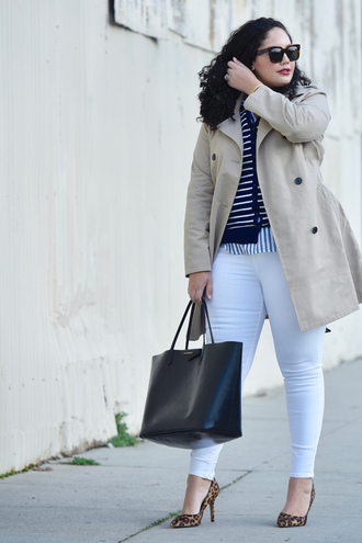 coat plus size interview outfit curvy plus size plus size coat plus size shirt cardigan denim jeans white jeans plus size jeans bag black bag pumps pointed toe pumps high heel pumps work outfits office outfits