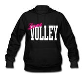 sweater,love,pink,black,volleyball
