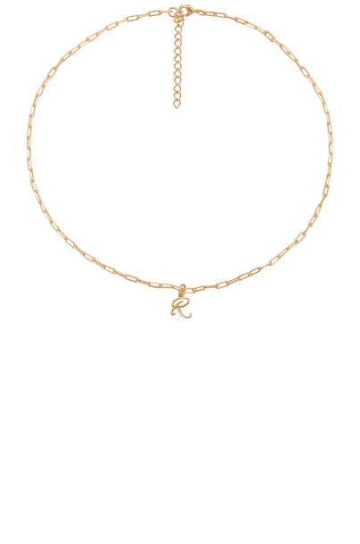 joolz by Martha Calvo R Initial Necklace in gold / metallic