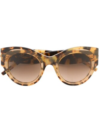 oversized sunglasses brown