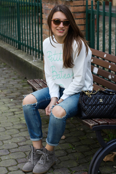 style and trouble bag shoes jeans coat sweater sunglasses