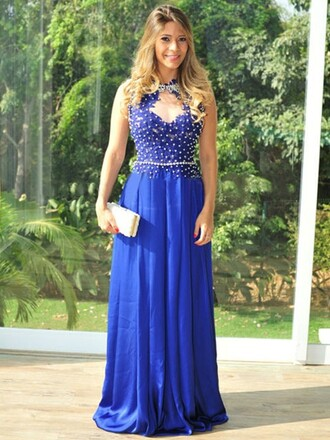 dress prom blue prom dress blue dress silk royal royal blue royal blue dress maxi maxi dress long long dress sexy sexy dress crystal crystal dress sweet pretty cool wow cute cute dress bridesmaid dressofgirl lovely love amazing style fashion trendy girly scoop neck dream oh my vogue vogue vibe vintage luxury chiffon