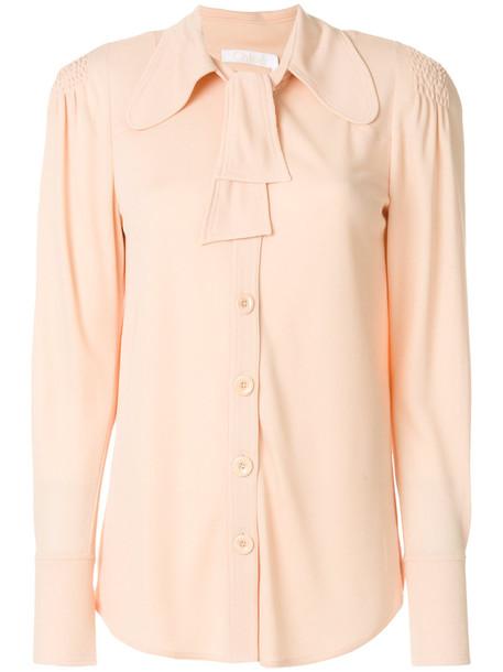 Chloe shirt collar shirt maxi women purple pink top