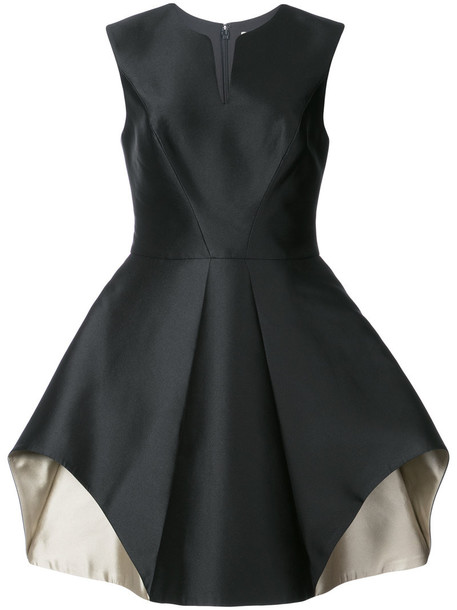Halston Heritage dress women black silk