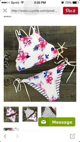 swimwear striped swimwear floral swimsuit