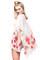 Cream floral print kimono