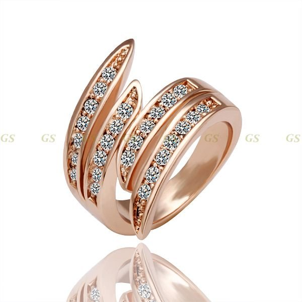 Christmas gift rose gold plated ring,Austrian crystals italina ring,Nickle free antiallergic factory prices,2010805210-in Rings from Jewelry on Aliexpress.com