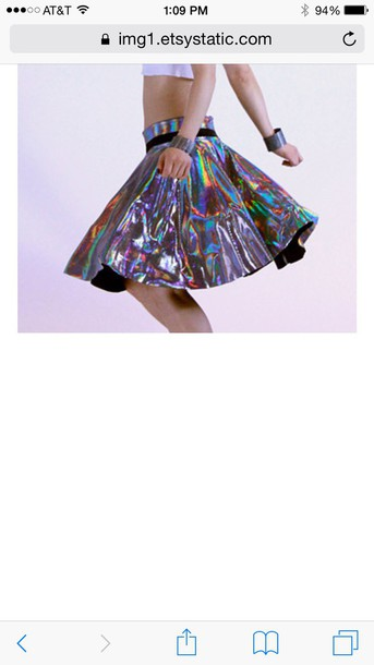 skirt kawaii holographic