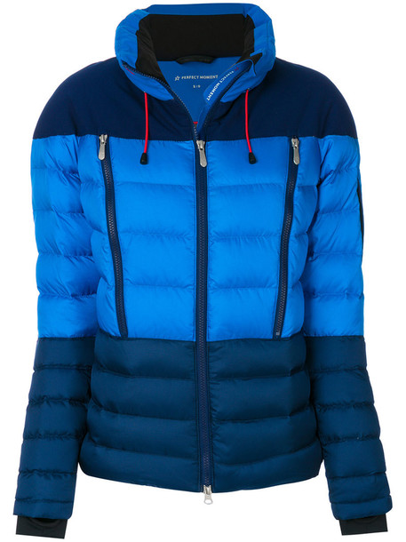 Perfect Moment jacket puffer jacket women blue