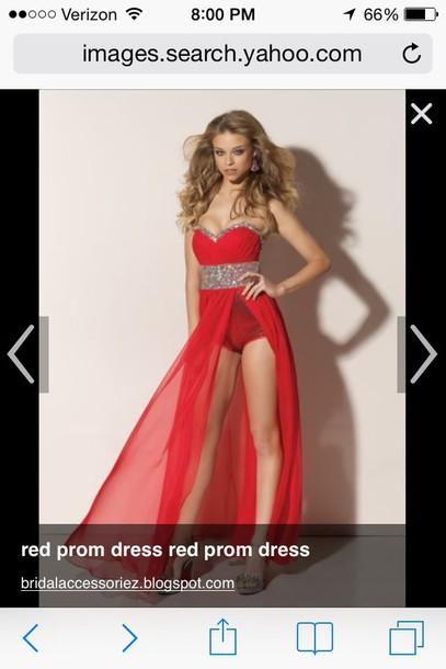 dress prom dress red prom dress