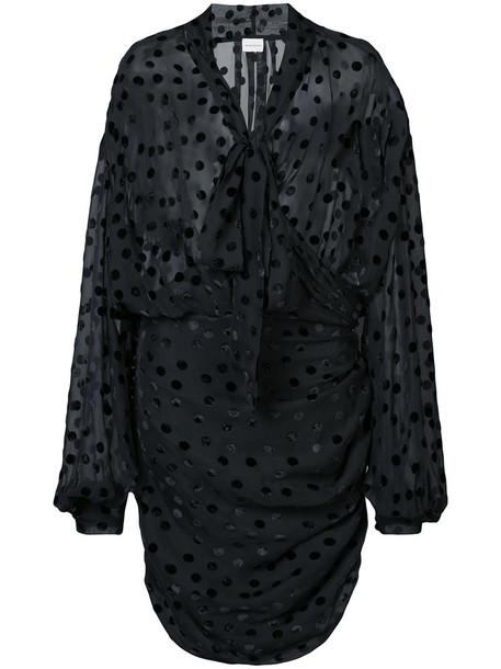 Magda Butrym dress sheer women black silk