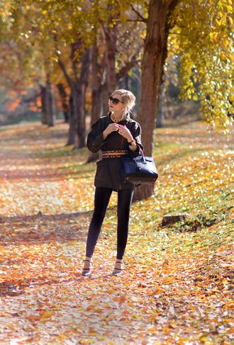 oh my vogue blogger belt bag jewels sunglasses blouse