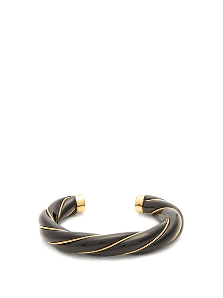 AURELIE BIDERMANN cuff gold black jewels