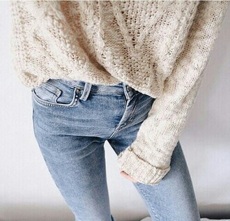 jeans blue jeans sweater pullover fall outfits winter sweater
