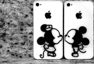 phone cover disney iphone couple cases stickers mickey mouse minnie mouse iphone5