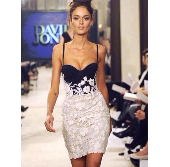 black lace dress black and white dress white dress