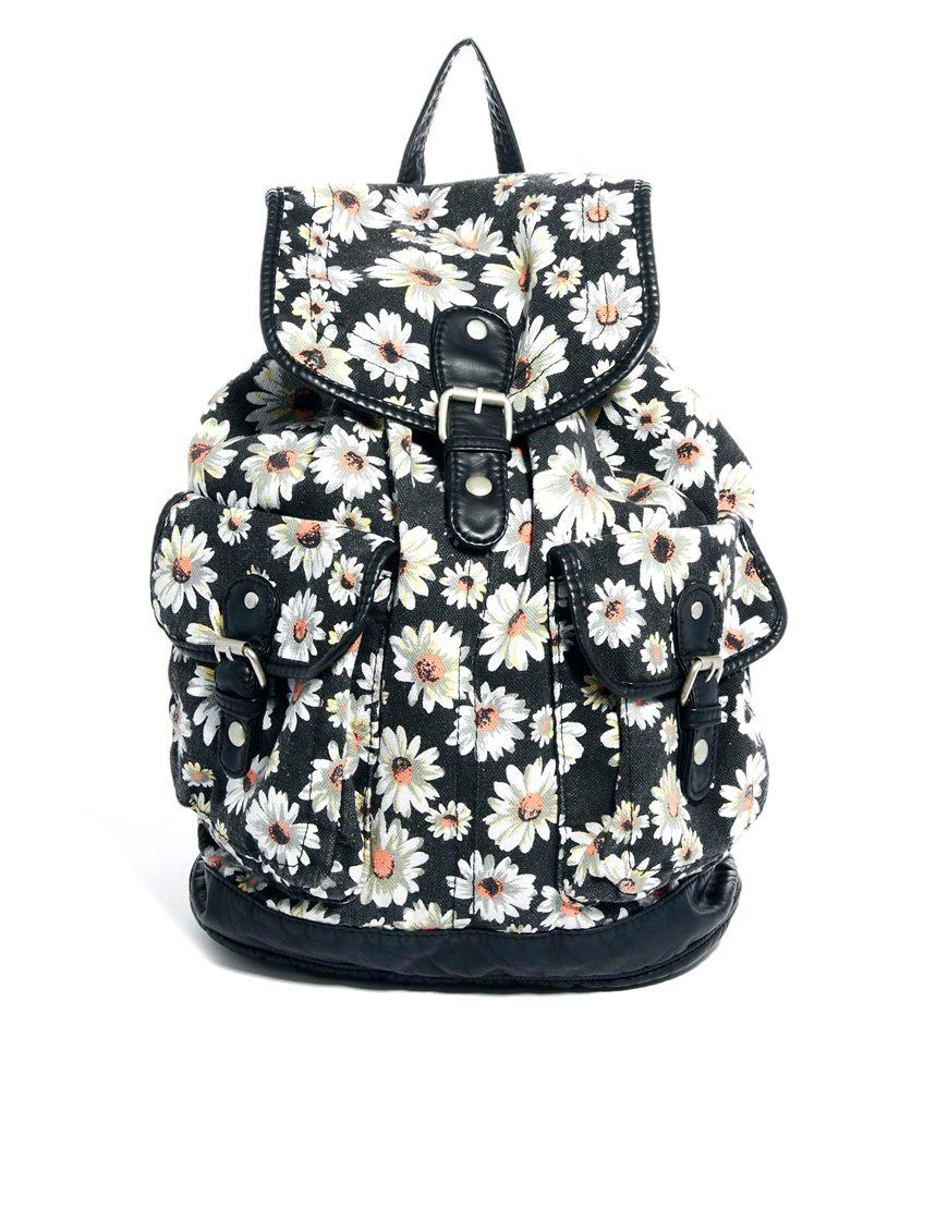 New look daisy print backpack at asos.com