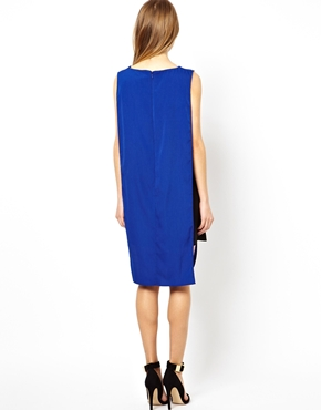 ASOS | ASOS Contrast Soft Mini Tabbard Dress at ASOS