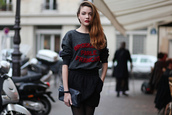 solweig rediger-lizlow,brooklyn we go hard,blogger,quote on it,french,sweater