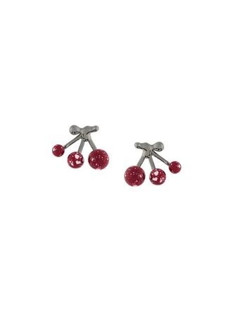 women earrings red jewels