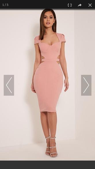 dress blush rose hot online boutique blush pink midi dress