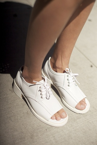 white shoes sandals lace up lace up oxfords peep toe