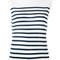 Dolce & gabbana breton stripe tank, women's, size: 40, white, silk
