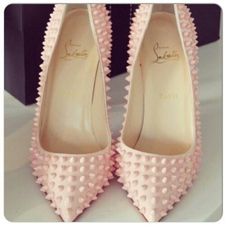 shoes spikes pink heels
