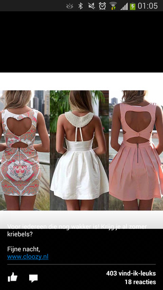 dress cute dress heart cut out mini dress summer dress