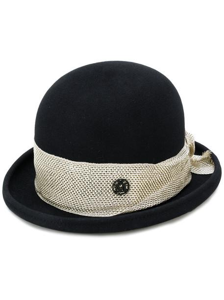 Maison Michel women hat cotton black wool