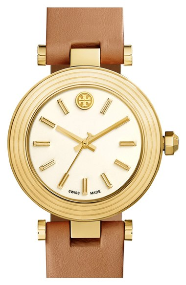 Tory Burch Leather Strap Watch, 35mm   Nordstrom
