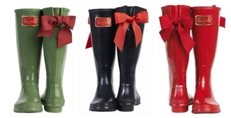 shoes red rain boots red bow bow bows lace bow toms shoes women wellies posh rain holiday season tom shoes