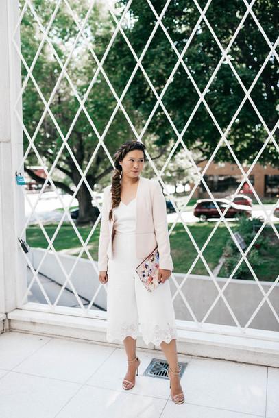 Sandy A La Mode Blogger Jumpsuit Jacket Shoes Bag Make Up