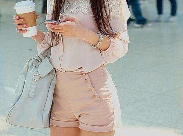 blouse shorts bag