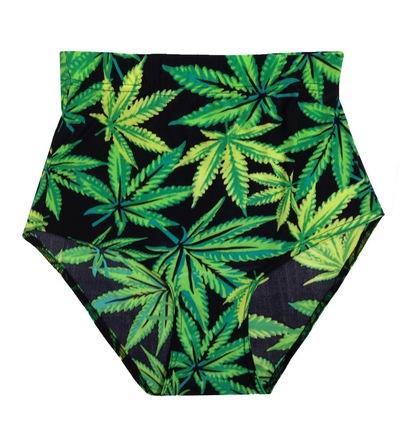 420 weed leaf bikini bottoms / shorts · so hazy · online store powered by storenvy