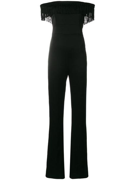 Galvan jumpsuit tassel women spandex black